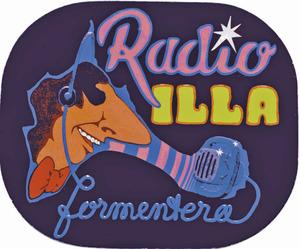 Anagrama de Ràdio Illa Formentera, emissora creada l´any 1986 i que fou el primer mitjà de comunicació produït i realitzat a l´¡illa. Cortesia de Carmelo Convalia.