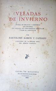 Portada de la novel·la <em>Veladas de invierno</em>, de Bartomeu Ramon i Capmany.