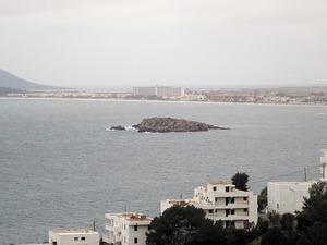 L´illa de ses Rates, situada al terme municipal d´Eivissa, al començament de la platja d´en Bossa. Foto: Felip Cirer Costa.