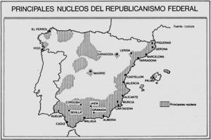 La Primera República Espanyola proclamà a les Corts el principi federal que, en l'àmbit de l'Estat espanyol, enfonsa les seues arrels en la tradició històrica d'autogovern, la lluita dels comuneros (s XVI) i les experiències de formació de juntes provincials (Guerra del Francès) i juntes revolucionàries locals (la Gloriosa de setembre de 1868), llavors ben recents.