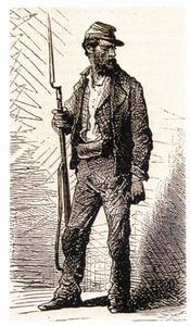 Primera República Espanyola. Federal armat. L´organització d´unes milícies nacionals (populars) és una constant en les reivindicacions del progressisme del s. XIX. Extret de <em>La Ilustración Española y Americana.</em>