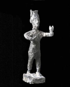 Representació de la divinitat fenícia Reserf-Melqart. Foto: Museu Arqueològic d´Eivissa i Formentera.