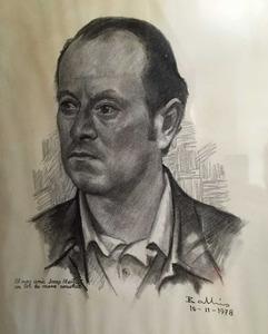 Josep Ribas Cardona –Mestret– en un retrat fet per Ballús.