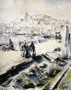 Aquarel·la de Joan Ribas Ribas, dels fons del Consell Insular d´Eivissa.