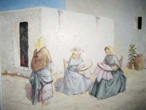 Obra del pintor Francesc Riera Serra. Oli damunt tela, 40 x 50 cm.
