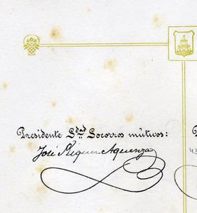 Signatura d´Ignasi Riquer Llobet com a diputat provincial. Arxiu Històric Municipal d´Eivissa.