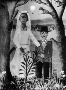 <em>Noucasats</em>, obra de 1962 del pintor Miquel Rivera Bagur.