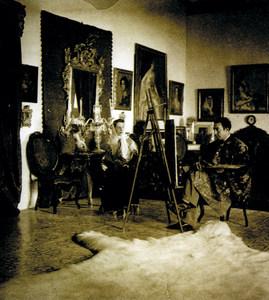 Bartomeu Ros Escandell pintant. Extret d´<em>Escandel, la vocación de un artista</em>.