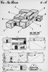 El primer full del retallable de ca na Rosa, de Nèstor Pellicer Casals, inclòs al recull <em>Retallables de paper per reconstruir el paisatge d´Eivissa</em>.