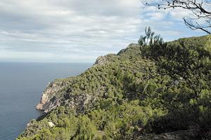 El cap des Rubió, a la costa de ponent del poble de Sant Miquel de Balansat. Foto: Chus Adamuz..