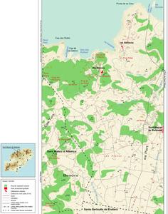 Mapa de la vénda des Rubió, del poble de Sant Miquel de Balansat. Elaboració: Josep Antoni Prats Serra / José F. Soriano Segura / Antoni Ferrer Torres.