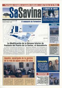 Portada de la revista setmanal <em>Sa Savina</em>, del 28 d´abril de 2005.