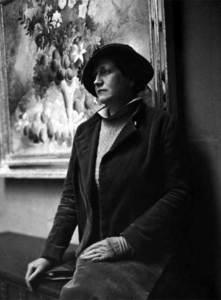 La pintora Olga Nikolaevna Sacharoff. Arxiu Fotogràfic de Barcelona. Foto: Francesc Serra.