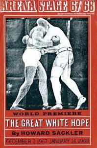 Portada d´una edició de l´obra teatral en vers lliure escrita a Santa Eulària des Riu <em>The great white hope</em>, de la qual és autor Howard Sackler.
