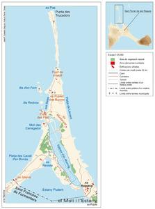 Mapa de la vénda de ses Salines, del poble de Sant Ferran de ses Roques. Elaboració: José F. Soriano Segura / Antoni Ferrer Torres.