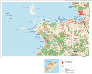 Mapa general del poble de Sant Agustí des Vedrà. Elaboració: José F. Soriano Segura / Antoni Ferrer Torres.