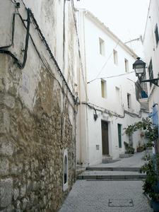 El carrer de Sant Antoni, a la zona del portal Nou de Dalt Vila. Foto: Felip Cirer Costa.