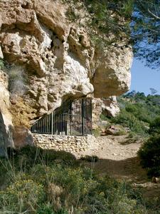 Sant Antoni de Portmany. La cova des Vi, amb pintures rupestres. Foto: Felip Cirer Costa.
