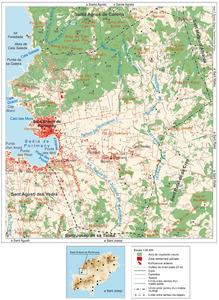 Mapa general del poble de Sant Antoni de Portmany. Elaboració: José F. Soriano Segura / Antoni Ferrer Torres.