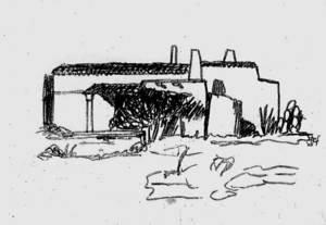 Sant Ferran de ses Roques. Ca ses Castellones, esbucada el 2005. Dibuix: Stefano Portelli.