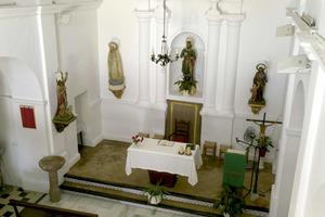 Sant Ferran de ses Roques. Interior de l´església. Foto: Joan A. Parés.