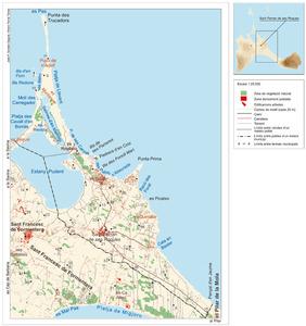 Mapa general del poble de Sant Ferran de ses Roques. Elaboració: José F. Soriano Segura / Antoni Ferrer Torres.