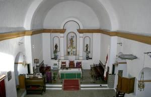Sant Joan de Labritja. Altar del temple parroquial, presidit per la imatge de sant Joan Baptista. Foto: EEiF.