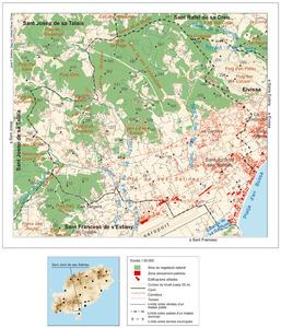 Mapa general del poble de Sant Jordi de ses Salines. Elaboració: José F. Soriano Segura / Antoni Ferrer Torres.