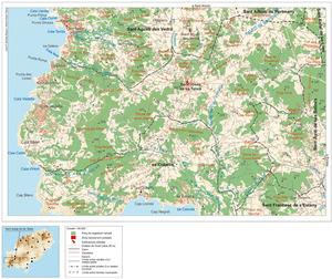 Mapa general del poble de Sant Josep de sa Talaia. Elaboració: José F. Soriano Segura / Antoni Ferrer Torres.