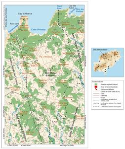 Mapa general de Sant Mateu d´Albarca. Elaboració: José F. Soriano Segura / Antoni Ferrer Torres.