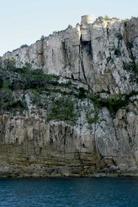 Sant Miquel de Balansat. La torre des Molar, que protegeix el port. Foto: EEiF.