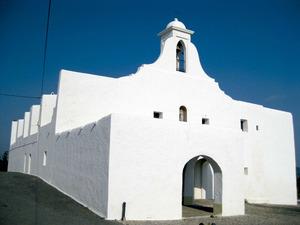 L´església parroquial del poble de Sant Rafel de sa Creu. Foto: Vicent Marí Costa.