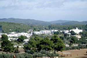 Sant Rafel de sa Creu. Vista general del nucli urbà. Foto: Vicent Marí Costa.