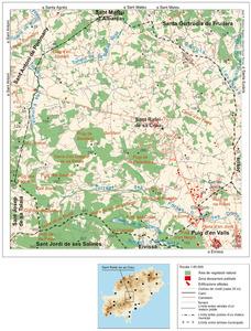 Mapa general del poble de Sant Rafel de sa Creu. Elaboració: José F. Soriano Segura / Antoni Ferrer Torres.