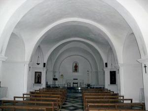 Santa Agnès de Corona. Nau de l´església parroquial, que es donà per acabada l´any 1812. Foto: EEiF.