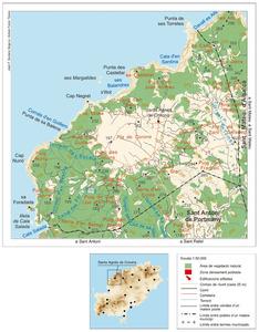 Santa Agnès de Corona. Mapa general del poble. Elaboració: José F. Soriano Segura / Antoni Ferrer Torres.