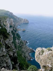 Penya-segats que formen la costa de Santa Agnès de Corona. Foto: Marta Tur Tur.