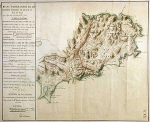 Mapa topogràfic del quartó de Santa Eulària, custodiat al Museu Naval de Madrid. Foto: Museu Naval de Madrid.