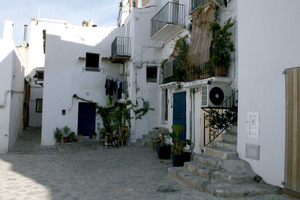 El carrer de Santa Llúcia, al barri de sa Penya de la ciutat d´Eivissa. Foto: Felip Cirer Costa.