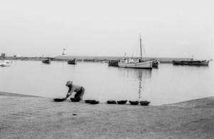 Una imatge del port de la Savina de devers 1950. Foto: Josep Juan Juan.