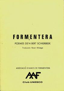 Portada del llibre <em>Formentera</em> de l´escriptor holandès Bert Schierbeek.