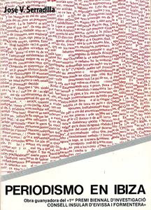 Portada de l´obra guanyadora del Premi Biennal d´Investigació del Consell Insular (1986), de José Vicente Serradilla Muñoz.