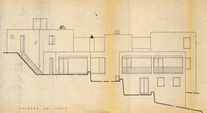 Alçat d´una de les cases de Can Pep Simó, obra de Josep Lluís Sert i López. Cortesia de l´Ajuntament de Santa Eulària des Riu.