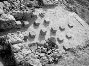 Estructura de l´hipocaust de la hisenda de can Servent, del poble de Sant Jordi de ses Salines. Foto: Roig/Orellana/Einz.