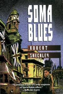 Portada del llibre <em>Soma Blues</em> (1997), de Robert Sheckley, amb diverses descripcions sobre la vida dels residents estrangers a Eivissa.