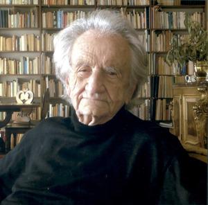 El psicòleg Miquel Siguan i Soler, que passava llargues temporades a Eivissa. Foto: Josep Maria Subirà.