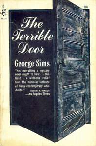 Portada del llibre <em>The terrible door</em>, de George Sims, ficció en què Eivissa surt com a escenari novel·lístic.