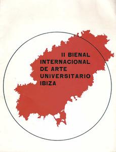 Portada del catàleg de la II Biennal d´Eivissa, que organitzà el Sindicat Espanyol Universitari.