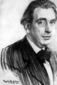 Autoretrat (1930) del pintor valencià Rigobert Soler Pérez, que va fer llargues estades a Eivissa (dibuix, 67 x 47 cm.). Extret de <em>Rigoberto Soler de cerca</em>.