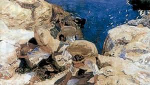 Joaquim Sorolla Bastida: <em>Els contrabandistes</em>, oli pintat a Eivissa el 1919.